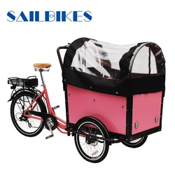 closed cargo box tricycle