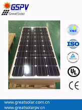 Price per Watt!! 150W HIghly Efficient Mono Solar Panel with a Small Size and CE, TUV Approval,Top Supplier from Alibaba