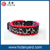 Special crazy Selling logo printed reflective led dog collar