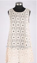 2015 Summer new style embroiedered lace dress for ladies