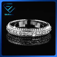 OEM Jewelry Manufacturer Wholesale Women Cubic Zirconia Diamond Jewelry Wedding Bijoux Fashion Band Ring Design