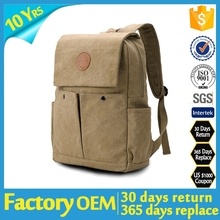 china factory supplier leather 2015 school backpack