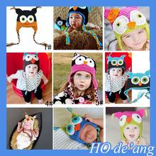 HOGIFT Animal shapes children's hand Knitted hat warm woolen hat