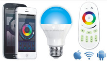 2015 original mi light design 6w led wireless 2.4g rf rgb lamp light wifi control led lamp bulb smart phone app led lighting