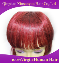 2015 best price Brazilian virgin lace front wig human hair human wine red hair