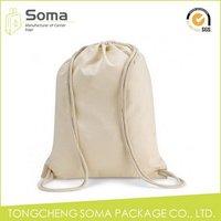 Good quality unique custom small drawstring cotton bags