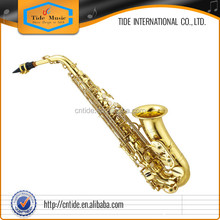 High grade alto Saxophone gold lacquer, underslung neck, new style