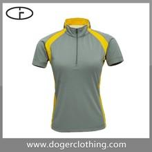 Mens Sports Zipper Tshirt manufacture in good quality