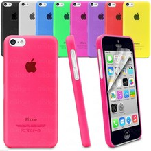 Hot selling Phone Accessories Pure Color Glossy TPU Hard Matte Case for iPhone 5C