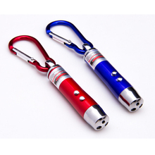 Mini metal torch Led Keychain Flashlight, Promotional gifts aluminum Carabiner flash light Key chain, led flashlight keychain