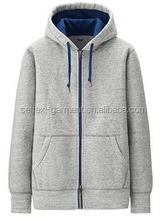 hotselling latest men's fashion zipper up hoodies