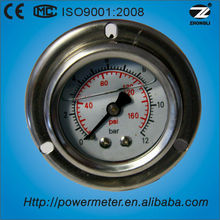 1.5'' 40mm hydraulic oil filling pressure gauge stainless steel back connection manometer