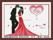 2014 3D DIY WALL ROMANTIC PAINTING ,INTERIOR WALL PAINTING CRYSTAL DIAMOND PAINTING