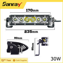 7 inch 30W Super Slim Led Work Light Bar Spot offroads Driving Lamp for 4WD
