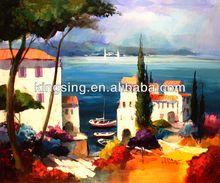venta al por mayor del paisaje pintura al óleo abstracta