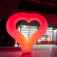 LED Inflatable Large Red Heart