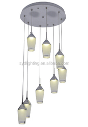 Hotsale modern restaurant decorations water cup shape acrylic LED modern lighting