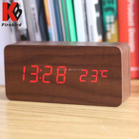Classic style simple fashion wooden desk clock wood gift craft