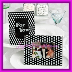 Wedding Table Decoration Black and White Polka Dot Photo Frame Favors Place Card Holder