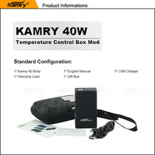 Newest coming mod vapor e-cigarette kamry 40w TPC mini 7-40w mini box mod from electronic cigarette china manufacturer