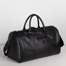 New Arrival European Style Genuine Leather Travel Bag Black Eminent Travel Duffel Bag