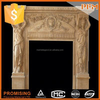 The stone material office fireplace hearths & back panels