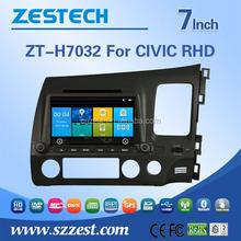 Fm radios audio multimedia player 2 din car dvd player tv antenna For HONDA OLD CIVIC RHD support BT Phone DTV DVR SWC