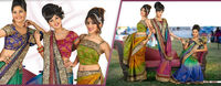 Latest Multy Colour Embroidered Designer Saree Blouse