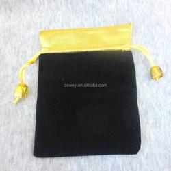 10*12 CM Soft Velvet Gold Satin Jewellery Drawstring Bag Pouches...