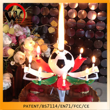 music candle for football themed party supplies