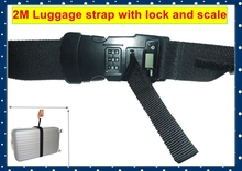2015 corporate gift items 2M luggage strap with lock and digital scale