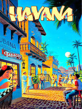 Famous romantic art tropical city street cartoon modern art oil painting 2012