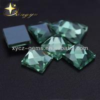 8mm Face Cut Square Glass Gemstones In Bulk Wholesale