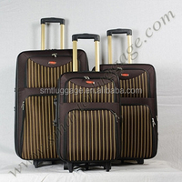 Soft Nylon 3 Pieces Trolley Luggage Set