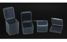 Rectangle Hinged lid plastic containers