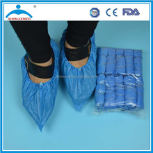 Disposable PE/CPE/PP+PE/PP/SMS/ shoe cover 15*41cm with machine made or hand made