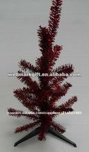 """La venta caliente! 16"""" walmart h rojo artificial de oropel del árbol de navidad"""