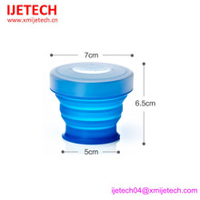 Welcome OEM logo PMS Color FDA Custom floding silicone cup