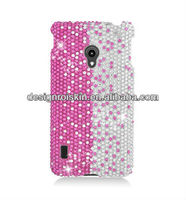 design your own rhinestone cell phone cases for LG Lucid 2 VS870