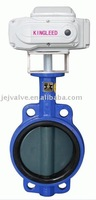 Cast Iron Wafer Mini Electric Butterfly Valve 24VDC Power