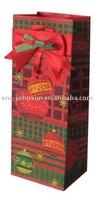 Wine Paper Bag for Christmas,Wine gift shopping bag,Christmas paper wine bag