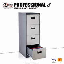 School furniture 4 drawer office steel storage cabinet/cupboard