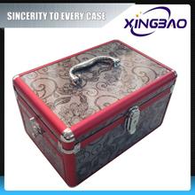 Travel girls cosmetic case,vanity cosmetic case,PVC panel aluminum cosmetic case