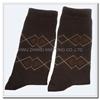 China manufacturer custom design men's mid-calf happy dress socks