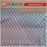 yarn dyed cotton white and red stripe poplin fabric
