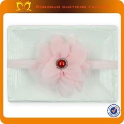 Cute pink girls flower headband Baby Girls Newborn Chiffon Flowers Headbands Infant Boutique Hair Flower Headband
