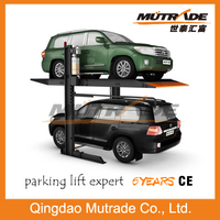 CE 2 Column Mechanical Hydraulic Car Parking Lift