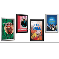 Silver digital front open photo picture frame 25mm aluminum profile poster frame