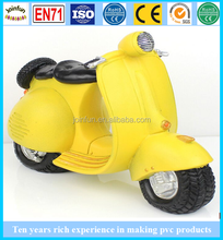 Pvc auto moto, modello di moto in plastica giocattoli, oem motore bici giocattoli in pvc per i ragazzi raccolta