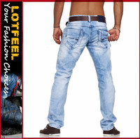 fashion wholesale High quality ripped slim fit man denim jeans pents drop shipping (LOTY230)